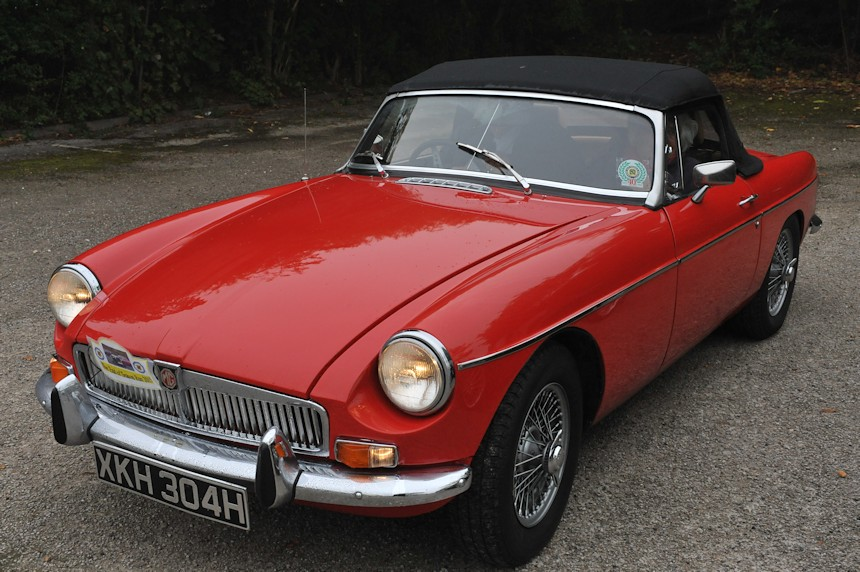 Photo of a red MG Roadster