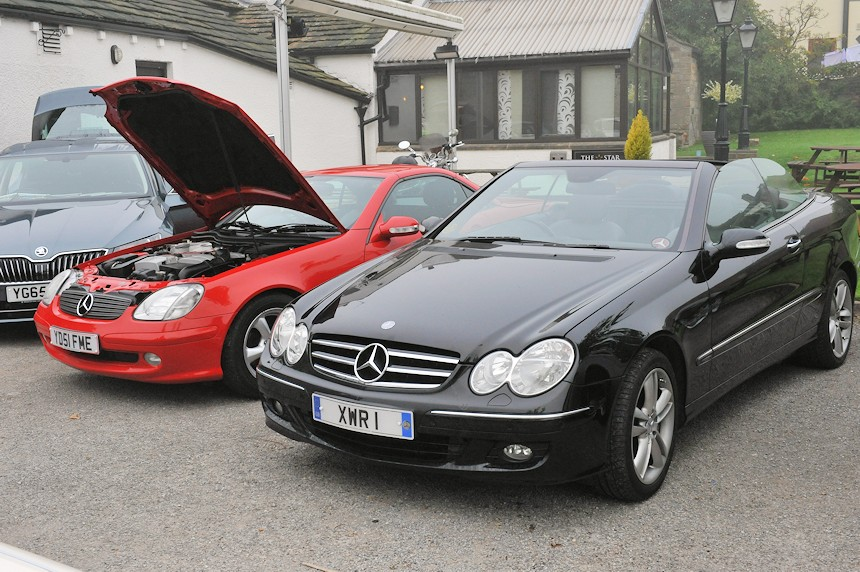 Photo of two Mercedes CLK's