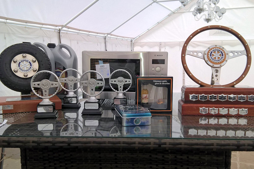 Photo of the trophies