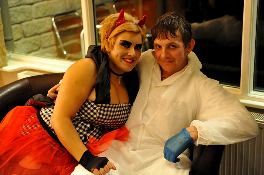 Photo of female devil and surgeon
