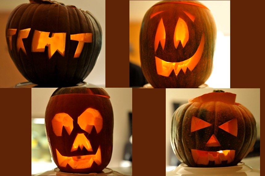 Photo of carved pumpkins