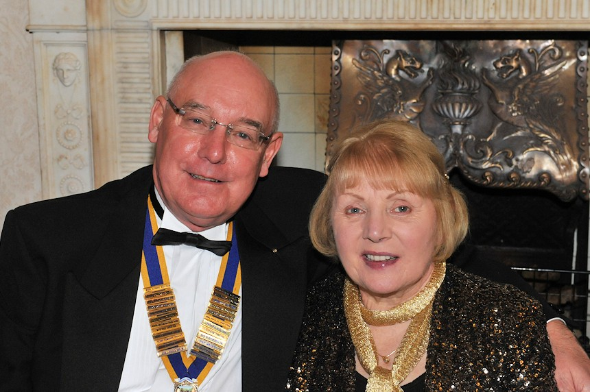 Photo of Rotarian and his wife