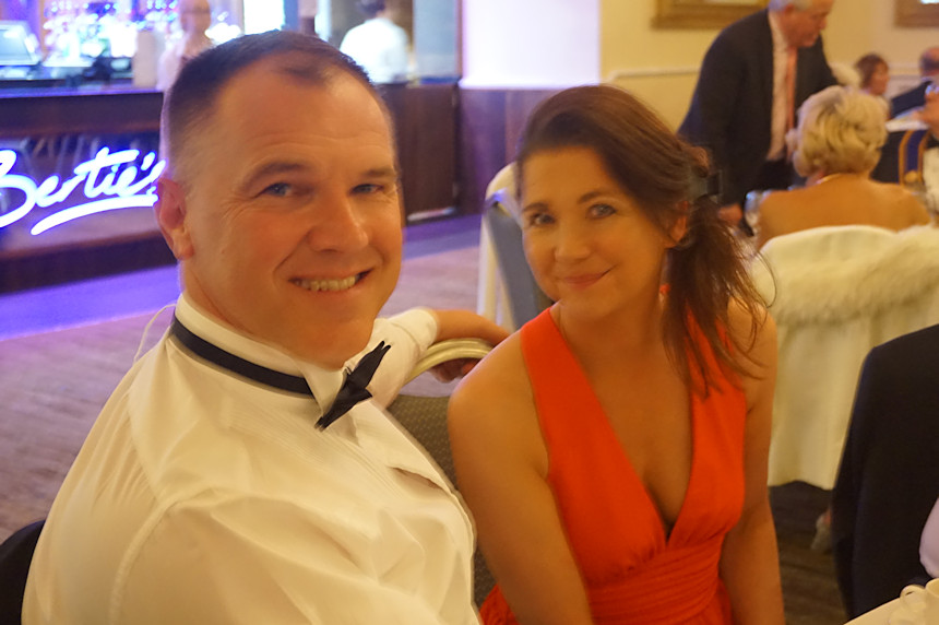 Photo of a couple at Rotary Ladies Night