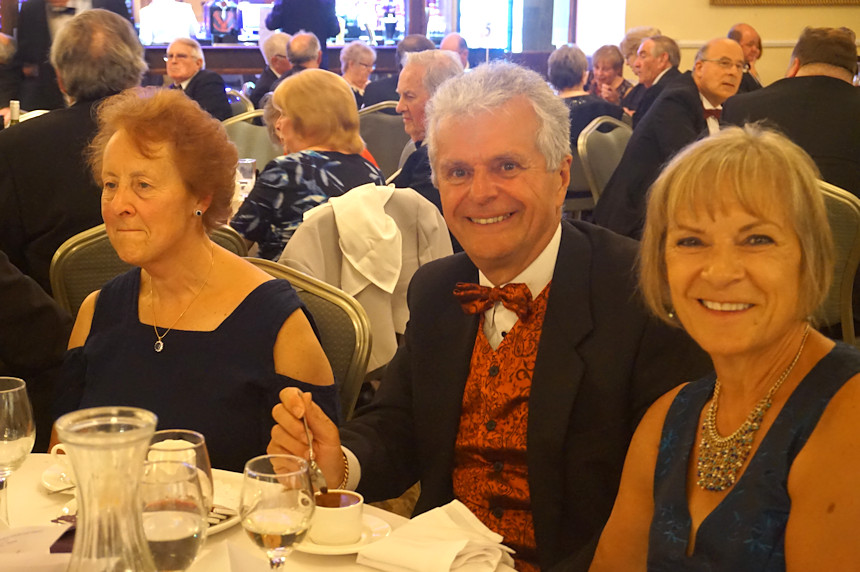 Photo of three people at Rotary Ladies Night