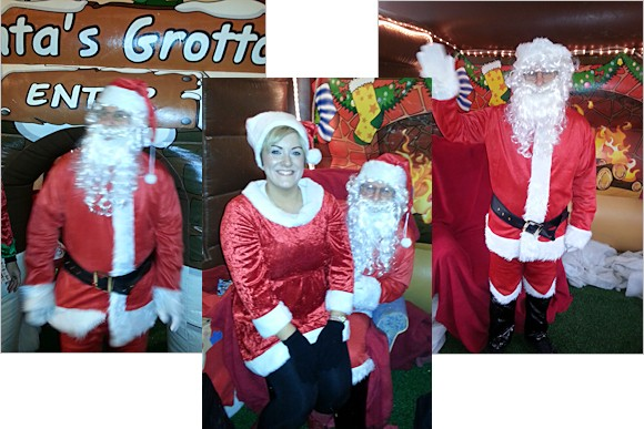 Photos of Santa in his grotto