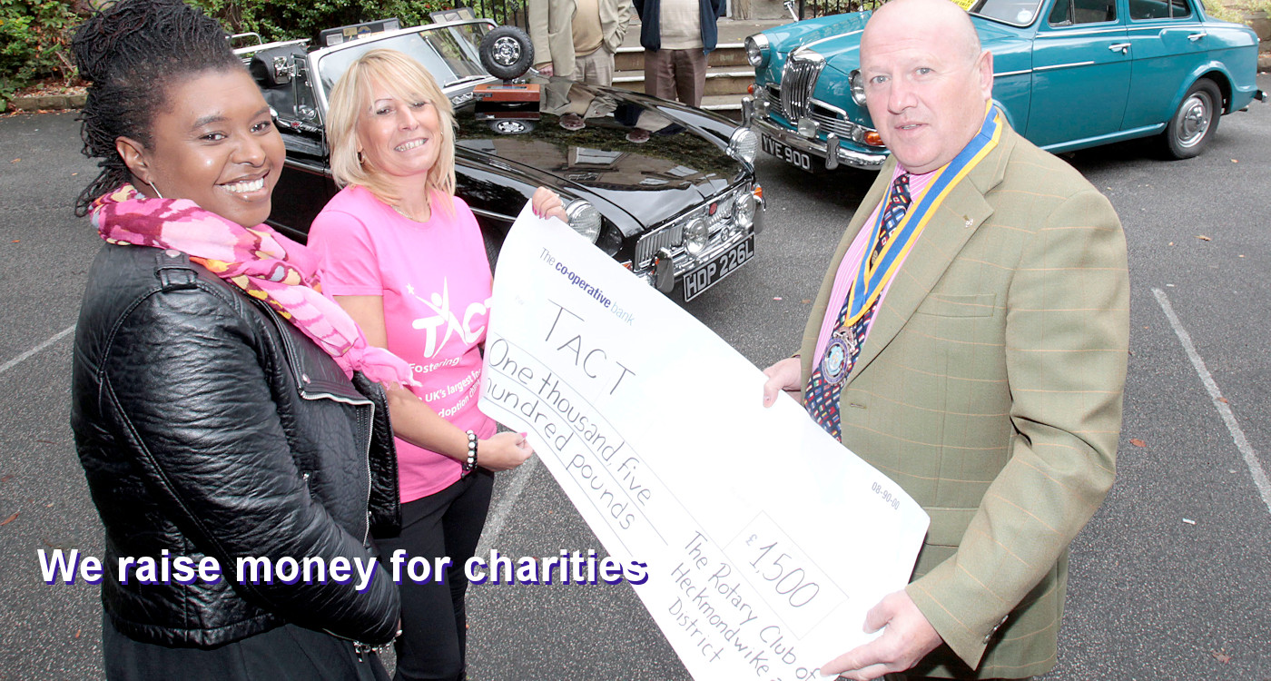 Photo of a cheque being presented