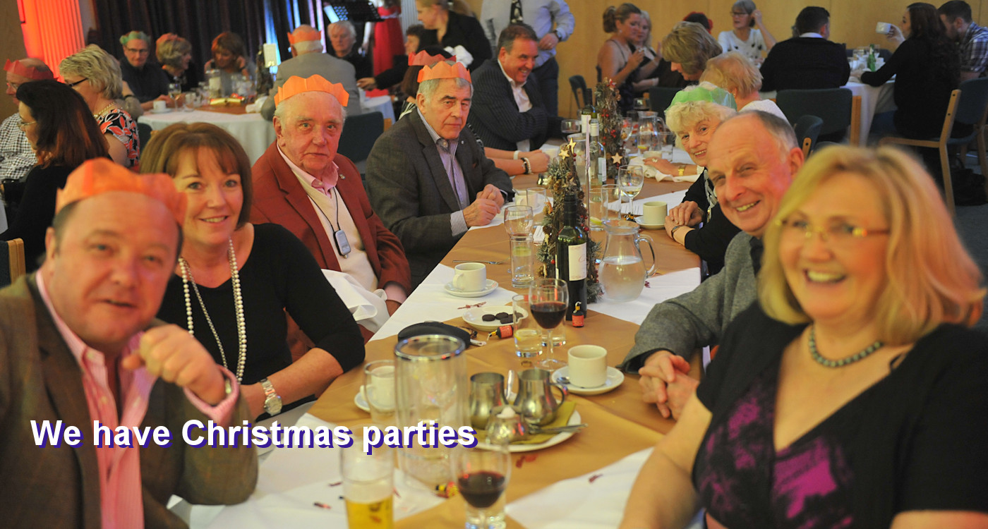 Photo of a Christmas party