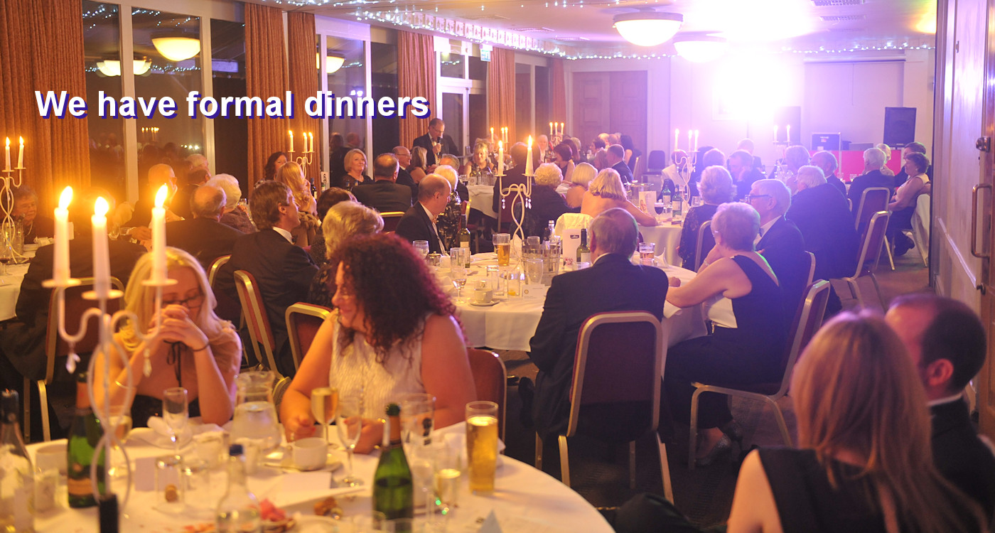 Photo of a formal dinner dance