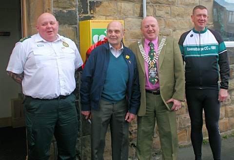 Photo of the defib unveiling
