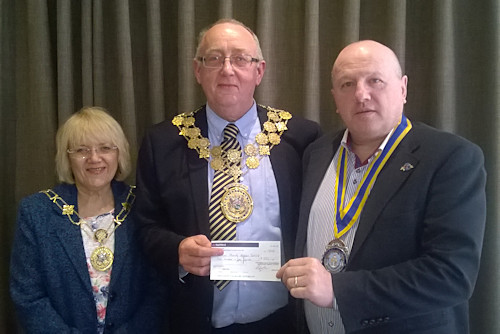 Mayor of Kirklees with President Orlando