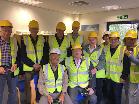 Rotary club members at Suez recycling plant